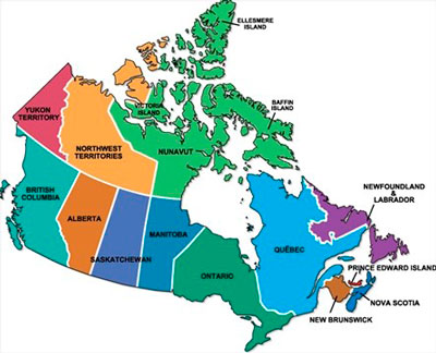 canada map territories